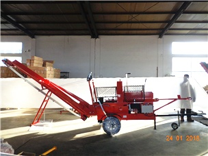 Electric Wood Processor Log splitter 7ton 520EC Conveyor